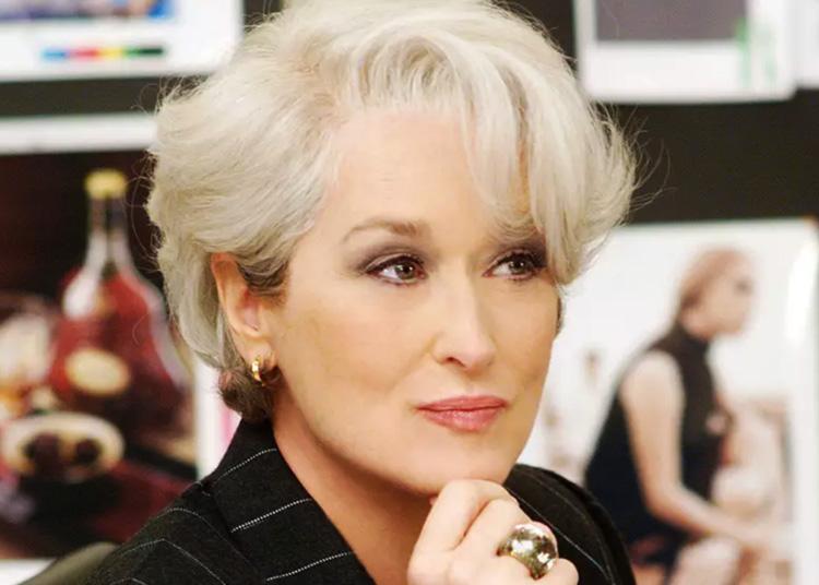 Famosas com fios grisalhos Meryl Streep It Mãe
