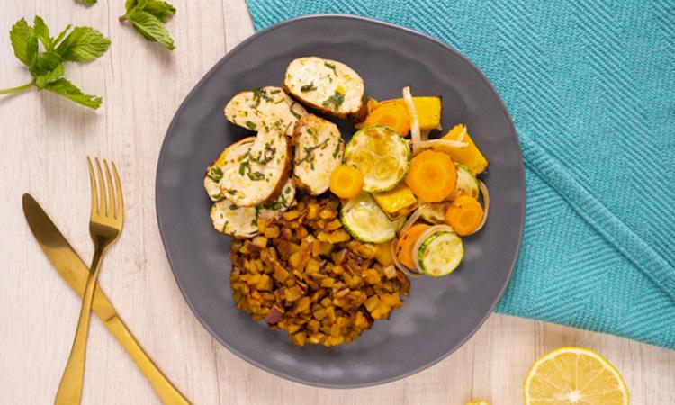 Férias de verão com praticidade Frango de limão siciliano Liv Up It Mãe