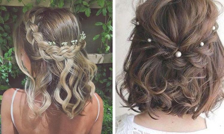 Penteados de festa para cabelos curtos It Mãe