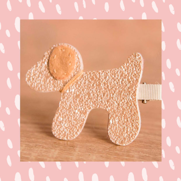 Presilha de cachorro douradaCasa da Mel It Mãe