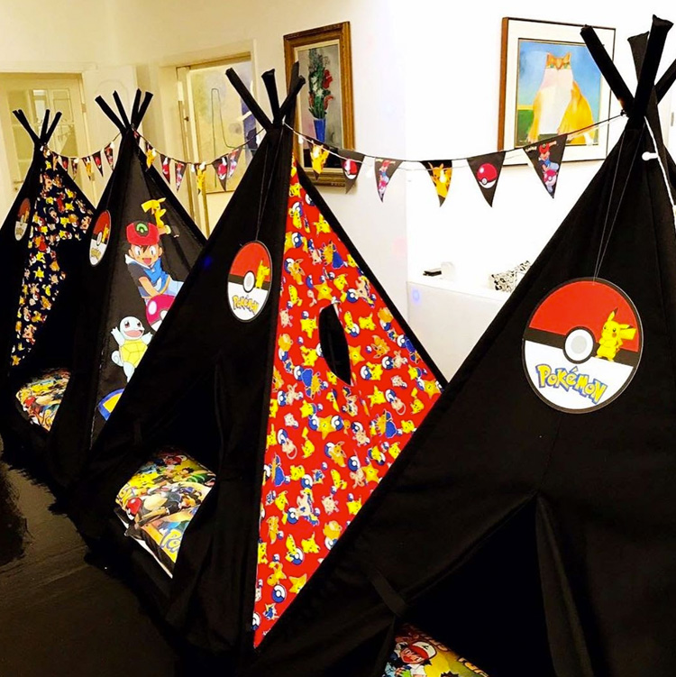 Festas do Pijama Pokémon Pijamas Party  It Mãe