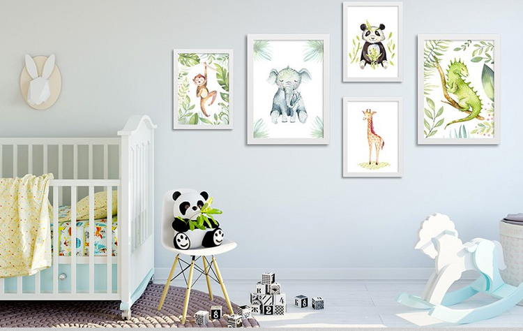 Como decorar o quarto com quadros de bichinhos fofinhos Decor Quadros It Mãe
