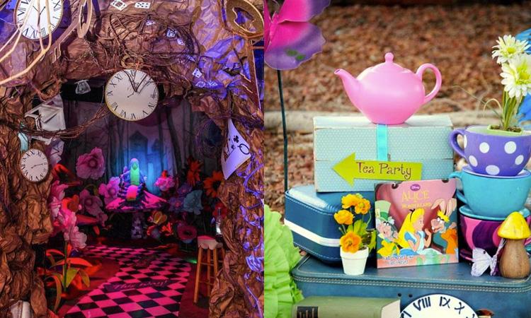 Decoração de festa da Alice no País das Maravilhas - It Mãe