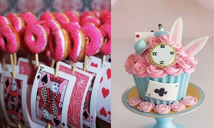 Doces para festa da Alice no País das Maravilhas - It Mãe