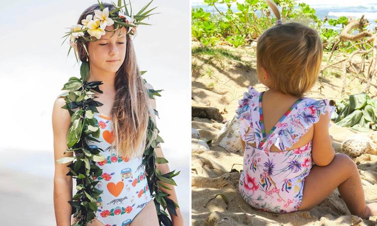 Maiôs infantis para praia Lului Bikinis It Mãe
