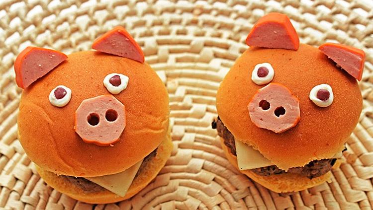 Receita de mini hambúrguer de porquinho It Mãe