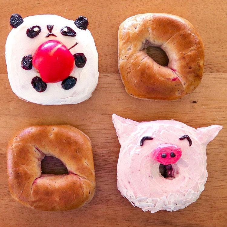 Bagel Ideias de café da manhã It Mãe