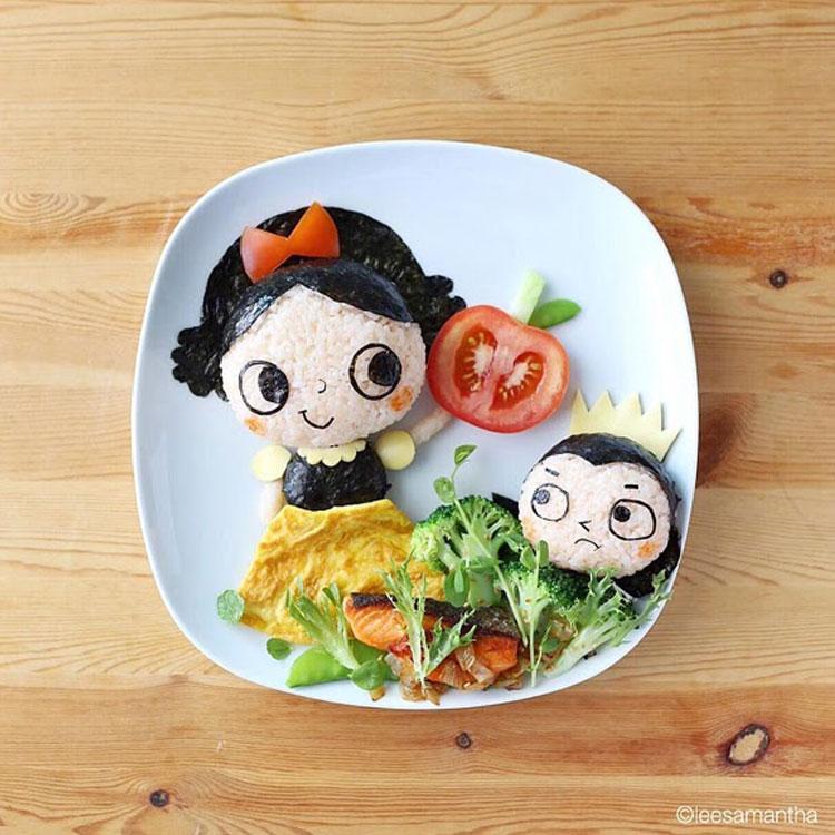 Branca de neve refeições inspiradas em desenhos It Mãe