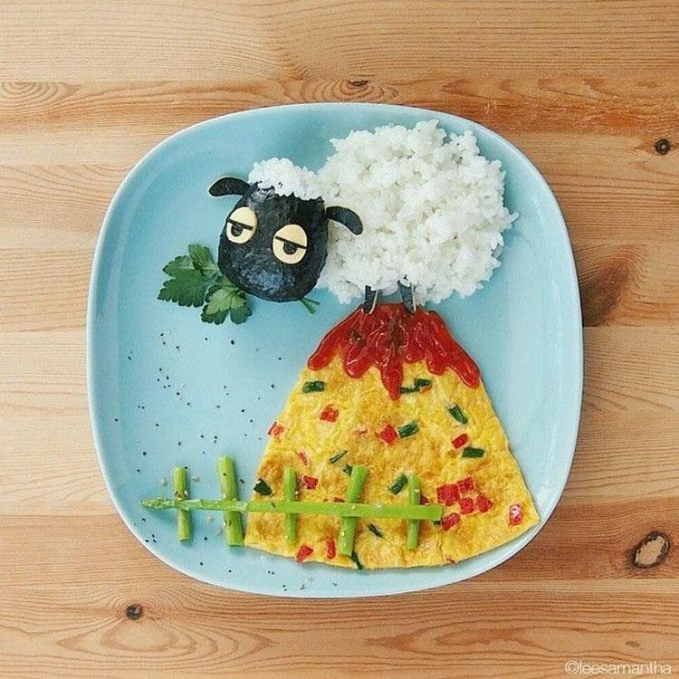 Carneiro refeições inspiradas em desenhos it mãe