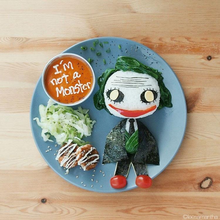 Coringa refeições inspiradas em desenhos It Mãe