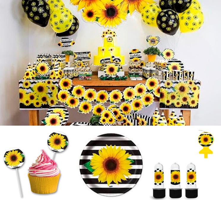 Festa de girassol utensílios festabox it mãe