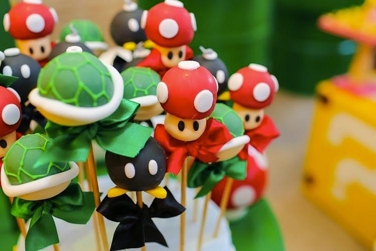 Decoração de mesa Super Mario