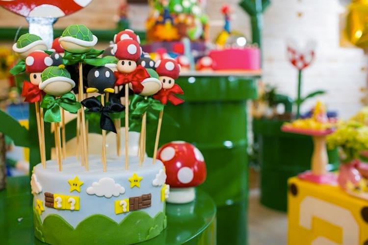 Mesa de doces Festa Super Mario Bros Mi Casa It Mãe