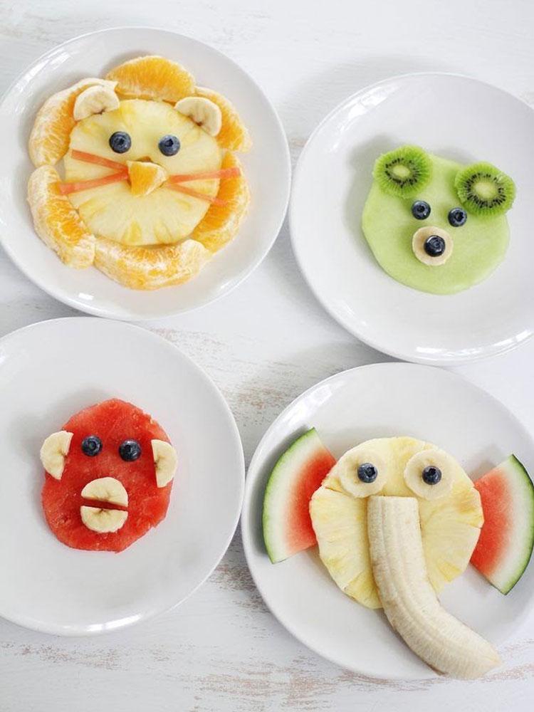 Frutas divertidas Ideias de café da manhã It Mãe