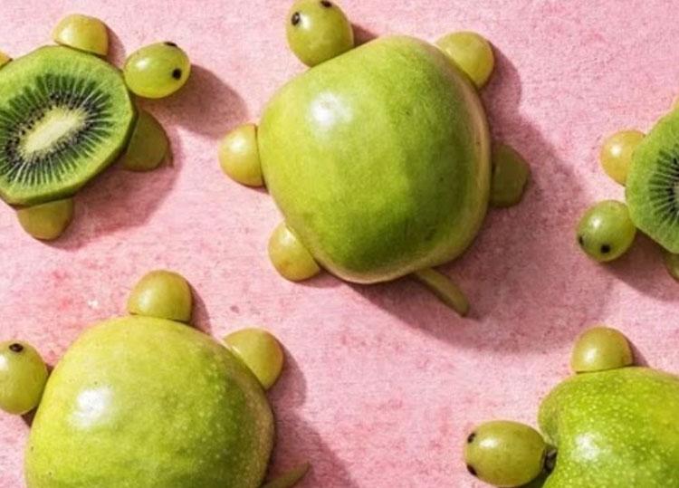 Tartarugas de frutas Ideias de café da manhã It Mãe
