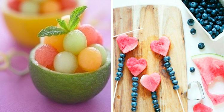 Snacks de melancia e melão It Mãe