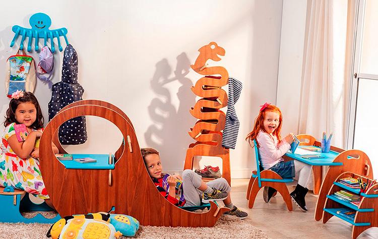 Móveis infantis para um quarto funcional Estúdio Tauga It Mãe