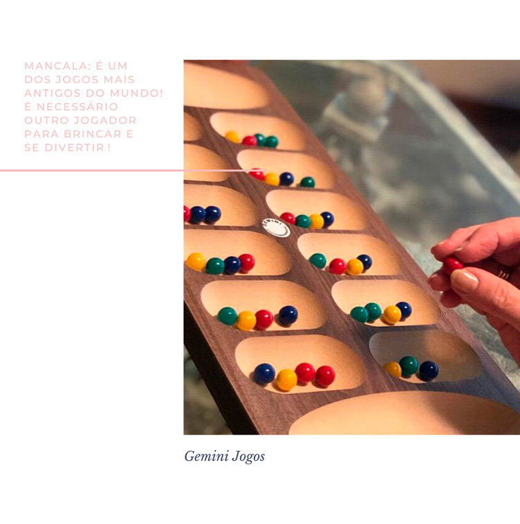 Mancala - Jogos para educação infantil - Gemini Jogos - It Mãe