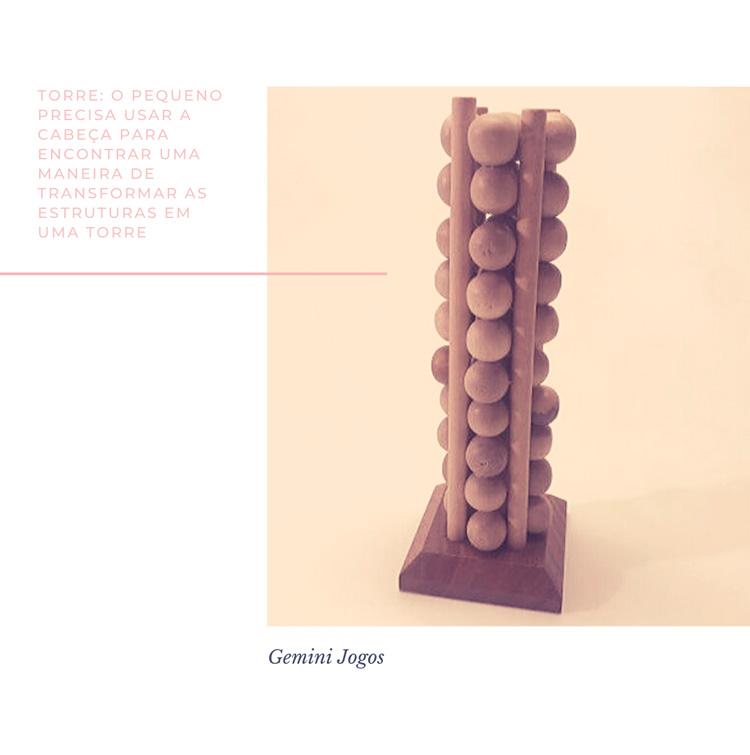 Torre - Jogos para educação infantil - Gemini Jogos - It Mãe