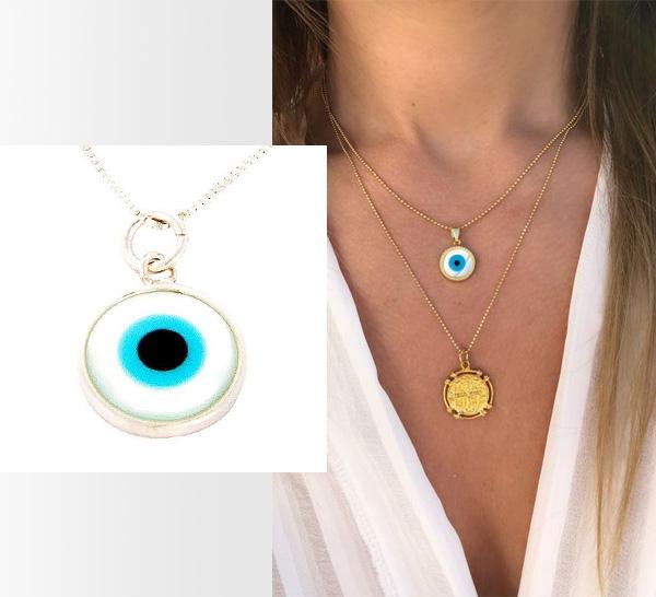 Amuletos que dão sorte colar olho grego  It Mãe