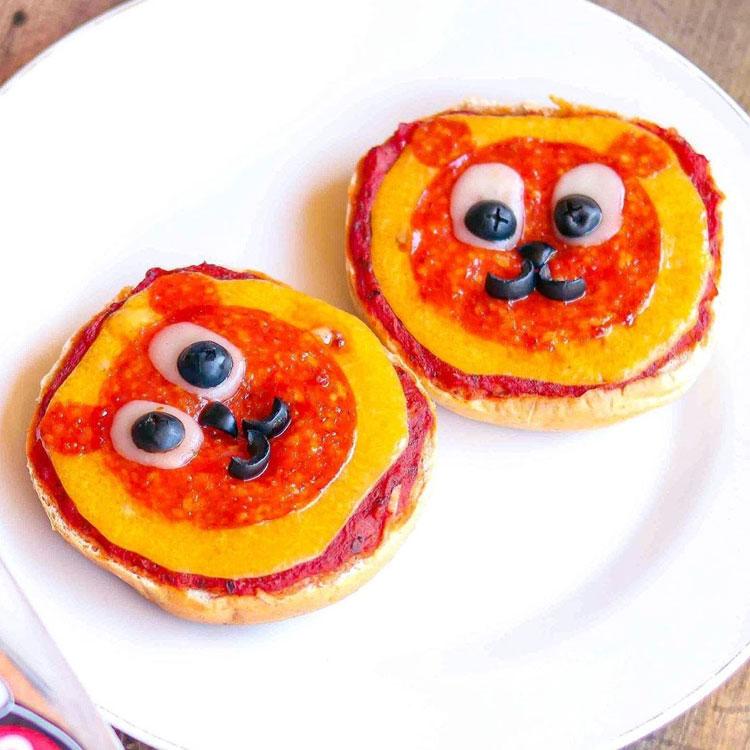 Lanche de pizza Ideias de café da manhã It Mãe
