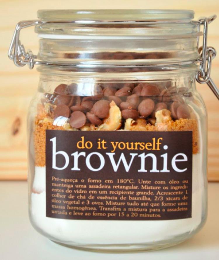 Mistura para fazer brownie em casa Ideias de lembrancinhas It Mãe