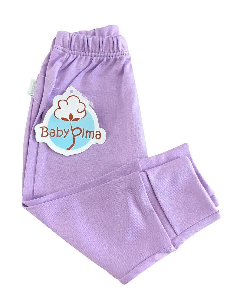 Looks em tons pastel - calça com pé reversível lilás- Baby Pima - It Mãe