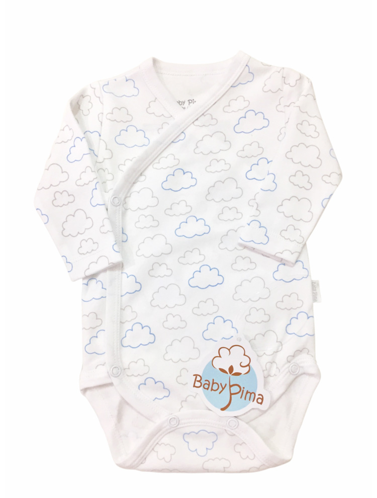 Body kimono nuvem celeste - Baby Pima - It Mãe