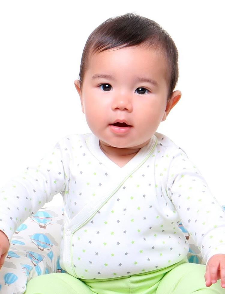 Body kimono estrelinhas verde - Baby Pima - It Mãe