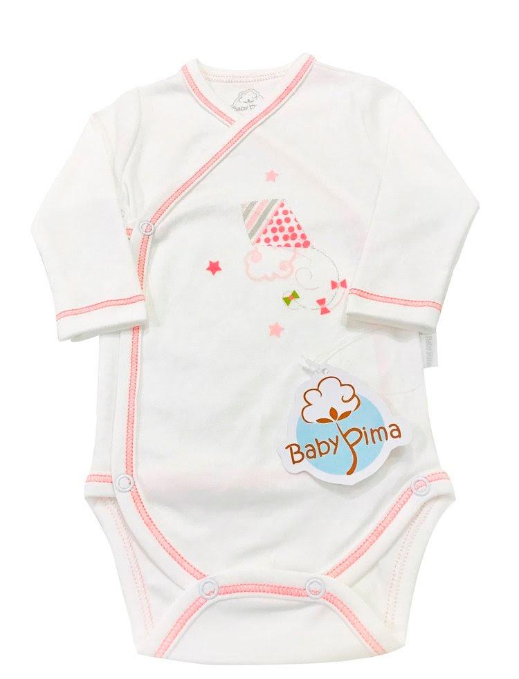 Looks em tons pastel - body kimono rosa - Baby Pima - It Mãe