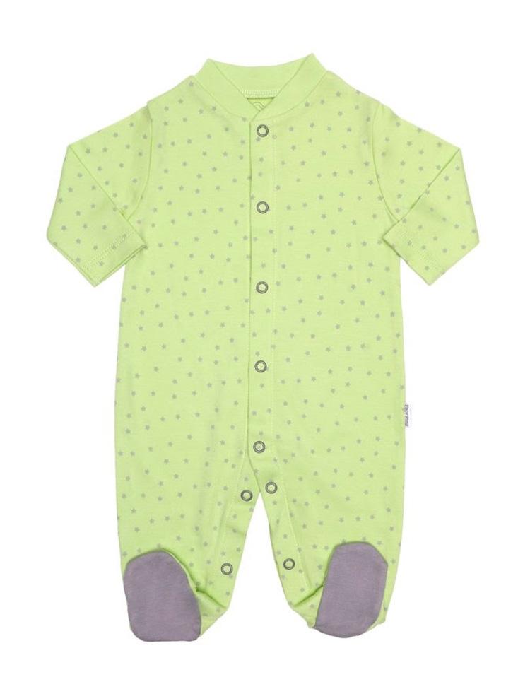 Macacão estrelinhas verde - Baby Pima - It Mãe