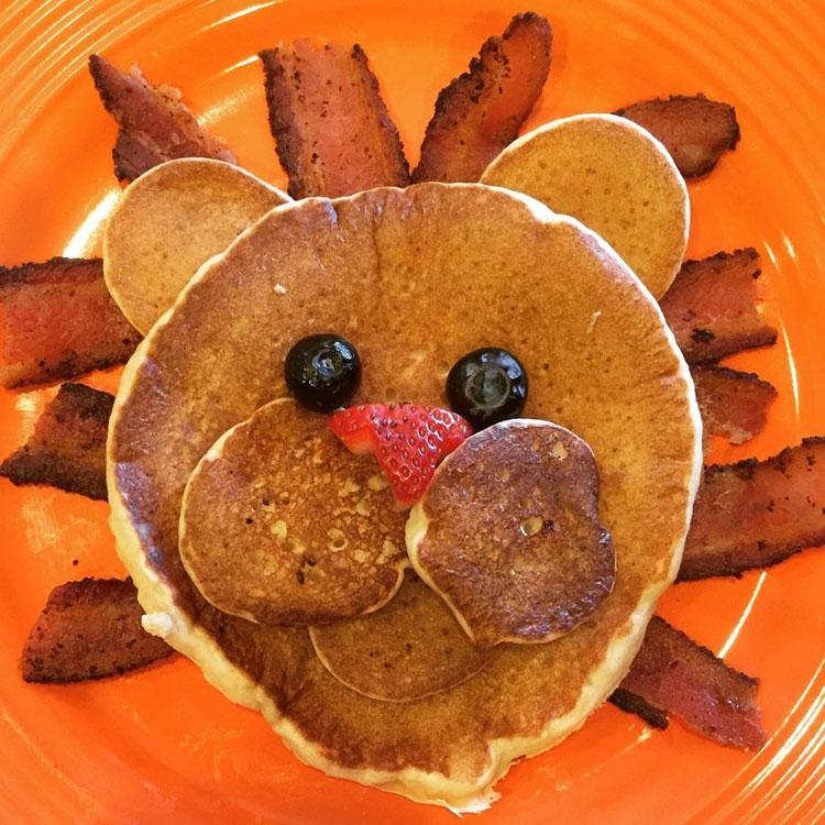 Panqueca leãozinho Ideias de café da manhã It Mãe