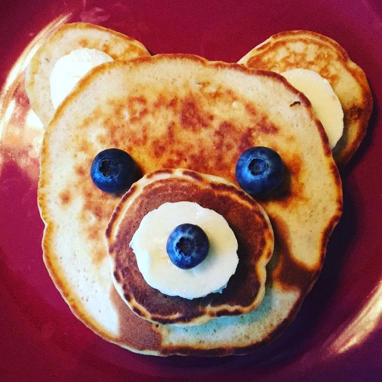 Panqueca de ursinho Ideias de café da manhã It Mãe