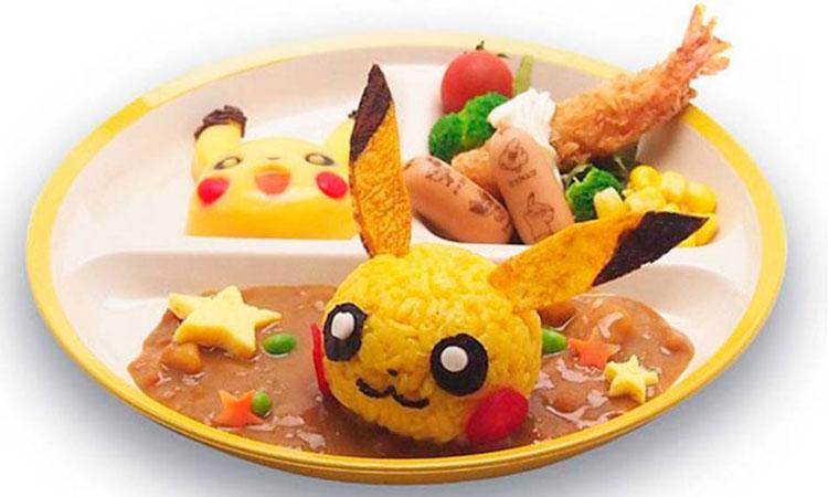 Pikachu refeições inspiradas em desenhos It Mãe