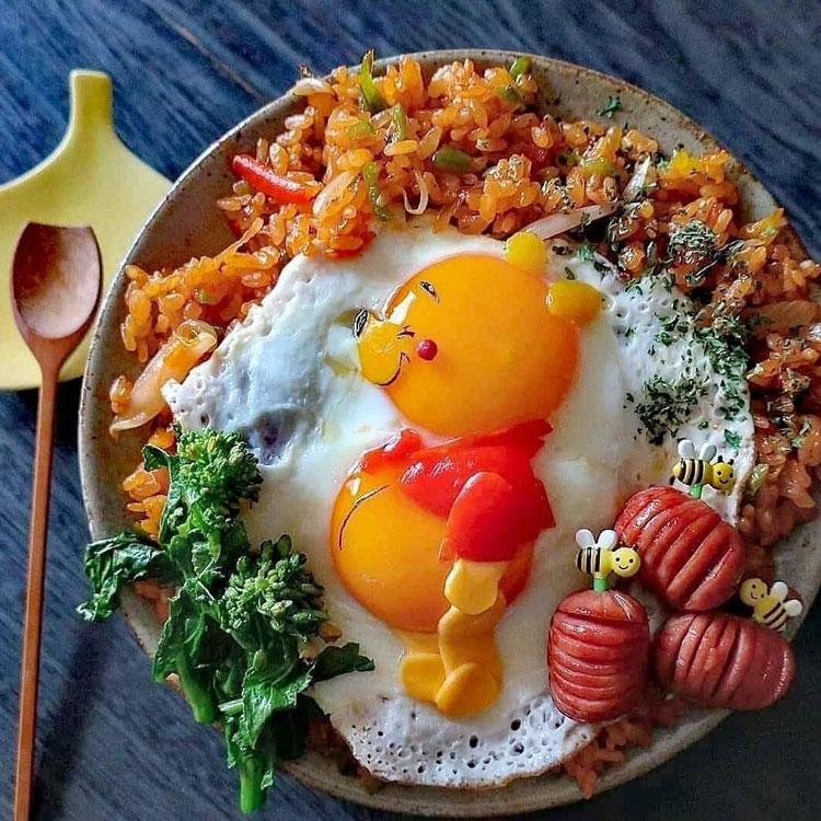 Pooh refeições inspiradas em desenhos It Mãe