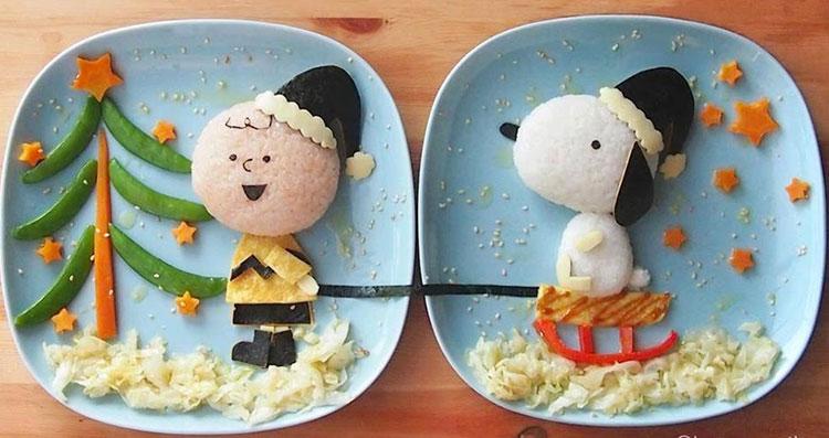 Snoopy refeições inspiradas em desenhos It Mãe
