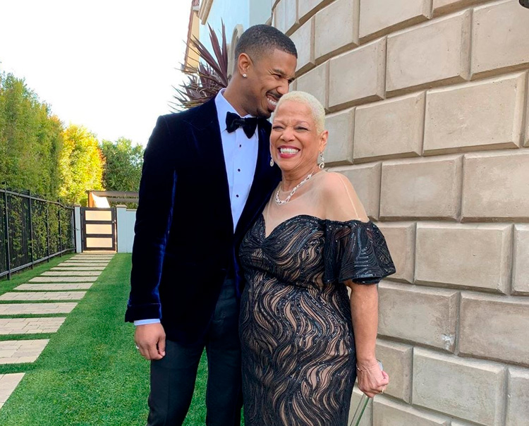 Michael B. Jordan e Donna Jordan It Mãe
