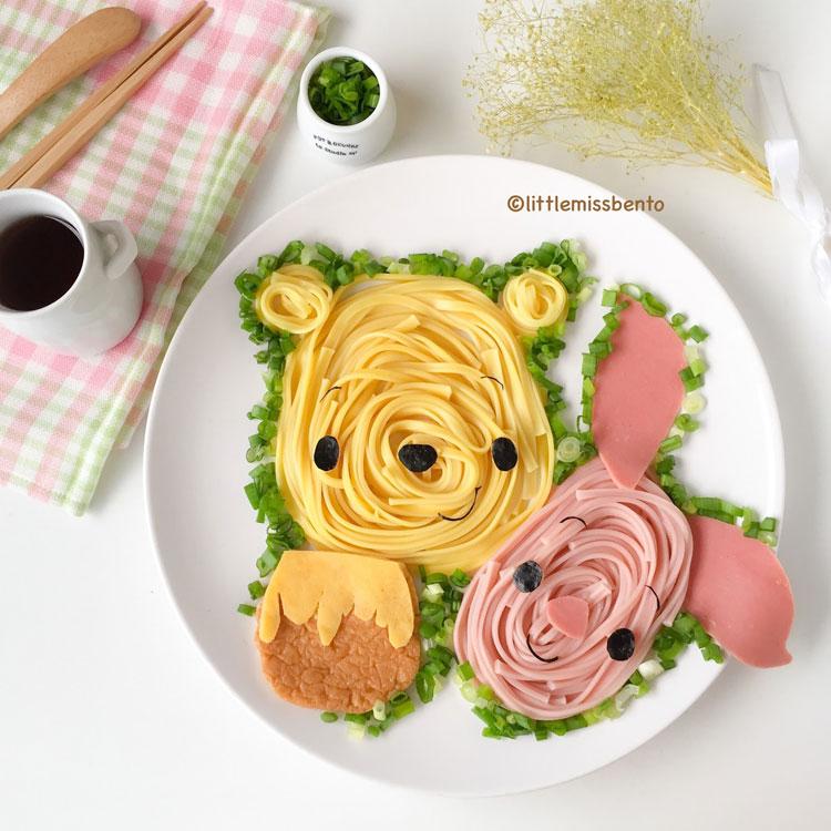 Ursinho Pooh refeições inspiradas em desenhos It Mãe