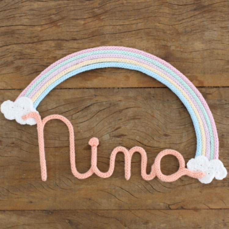 Arco-íris porta de maternidade Ami Fofuchos It Mãe