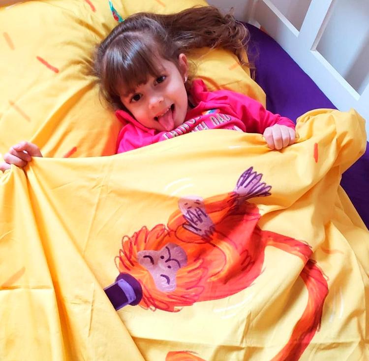 Cuidados com a roupa de cama das crianças Lençol Mico Leão Dourado Oohoo Kids It Mãe