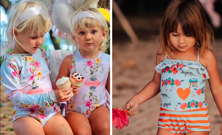 Maiô infantil estampado Lului Bikinis It Mãe