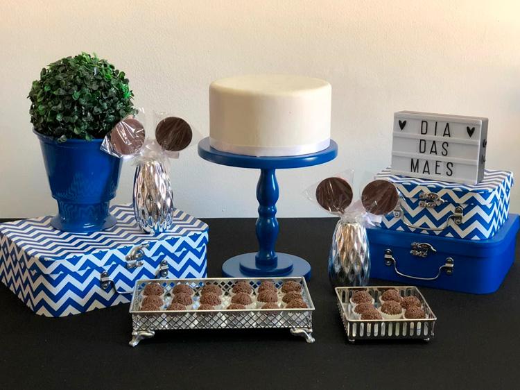 Kit Festa em Casa Azul Dia das Mães Le Petit Personnaliser - It Mãe