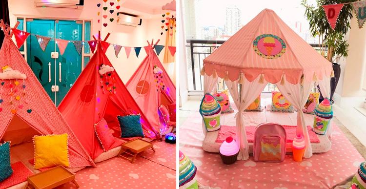 Cabanas românticas para Dia dos namorados em casa - Pijamas Party - It Mãe