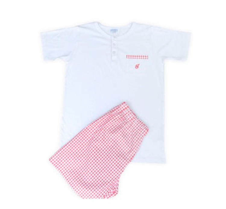 Pijama xadrez Rose & Bleu - It Mãe