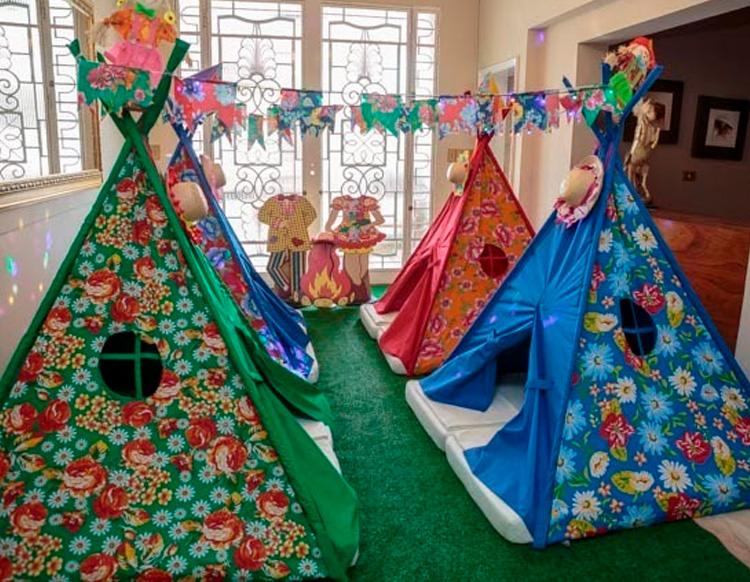 Festa do pijama decoração junina Pijamas Party - It Mãe