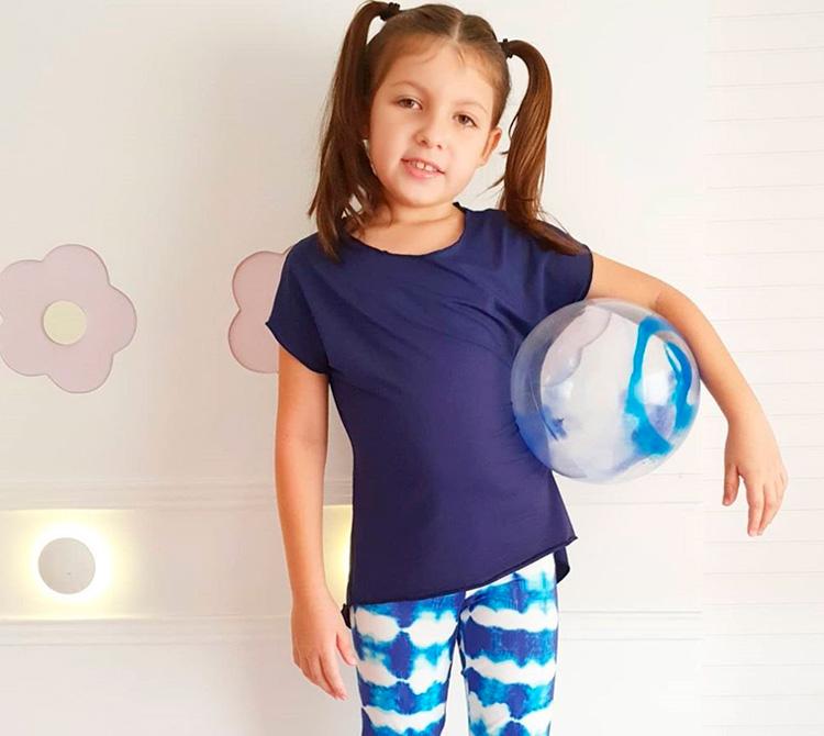 Camiseta básica e legging tie dye - Beta Be - It Mãe