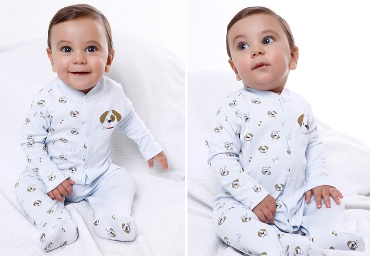 Produtinhos para bebê recém-nascido: macacão algodão peruano Baby Pima - It Mãe