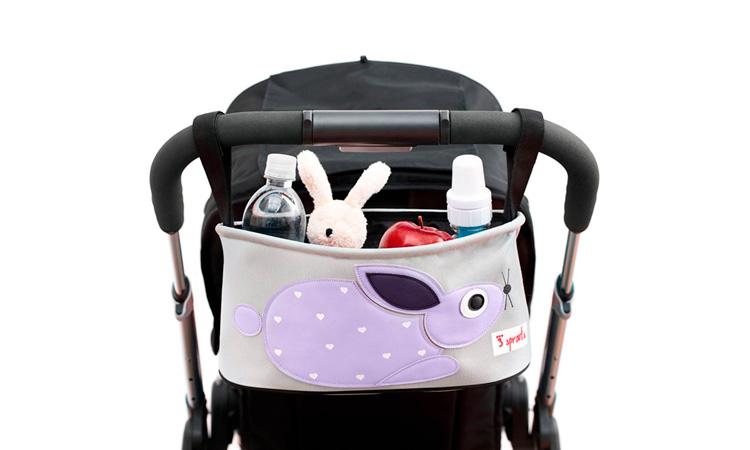 Produtinhos para bebê recém-nascido: organizador de carrinho coelho Quintal do bebê - It Mãe
