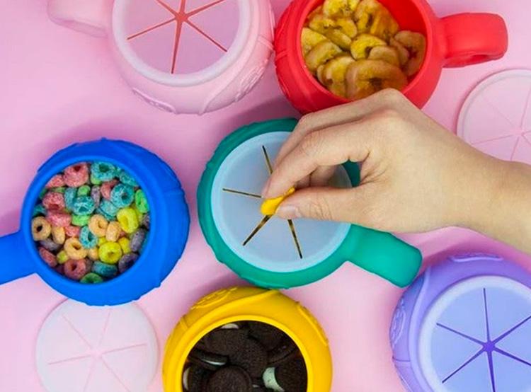Rotina de alimentação para crianças Pote de silicone Quintal do Bebê - It Mãe
