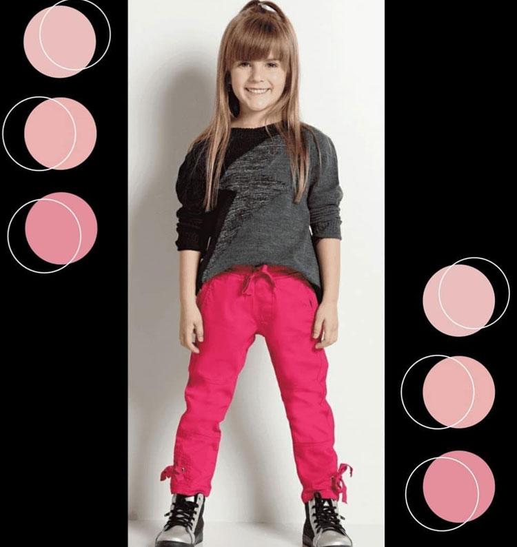 Calça rosa Marbella Infantil It Mãe